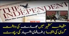 India's terror in occupied Kashmir: British Newspaper today's report
