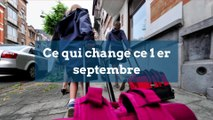 Ce qui change ce 1er septembre