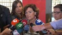 Calvo avanza que el programa que ultima Sánchez incluirá propuestas de Podemos