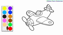 Colorant Avion de chasse | Peindre pour les jeunes enfants et dessiner pour les enfants