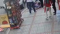 Rize'de bir şahsın eşi ve çocuğunun gözleri önünde vurulduğu anlar kamerada