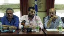 Ο Κώστας Χατζηδάκης στα καμένα του δήμου Διρφύων Μεσσαπίων