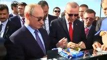 """شاهد: مثلجات لأردوغان وبوتين في موسكو ضمن مساعي البحث عن """"التسويات"""""""