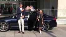 La princesa Leonor y la infanta Sofía, junto a los reyes, visitan a don Juan Carlos en el hospital