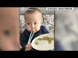 Trending on Chinese social media: The story behind the viral chopstick boy