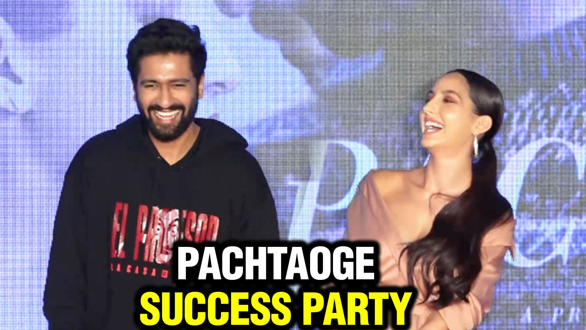 Vicky Kaushal And Nora Fatehi Best FUNNY MOMENTS From Pachtaoge Success Party