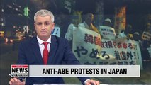 Protestors in Tokyo call on PM Abe to drop trade restrictions on South Korea