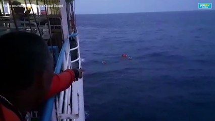 Coast Guard conducts search and rescue operation off Dapitan for ferry fire victims