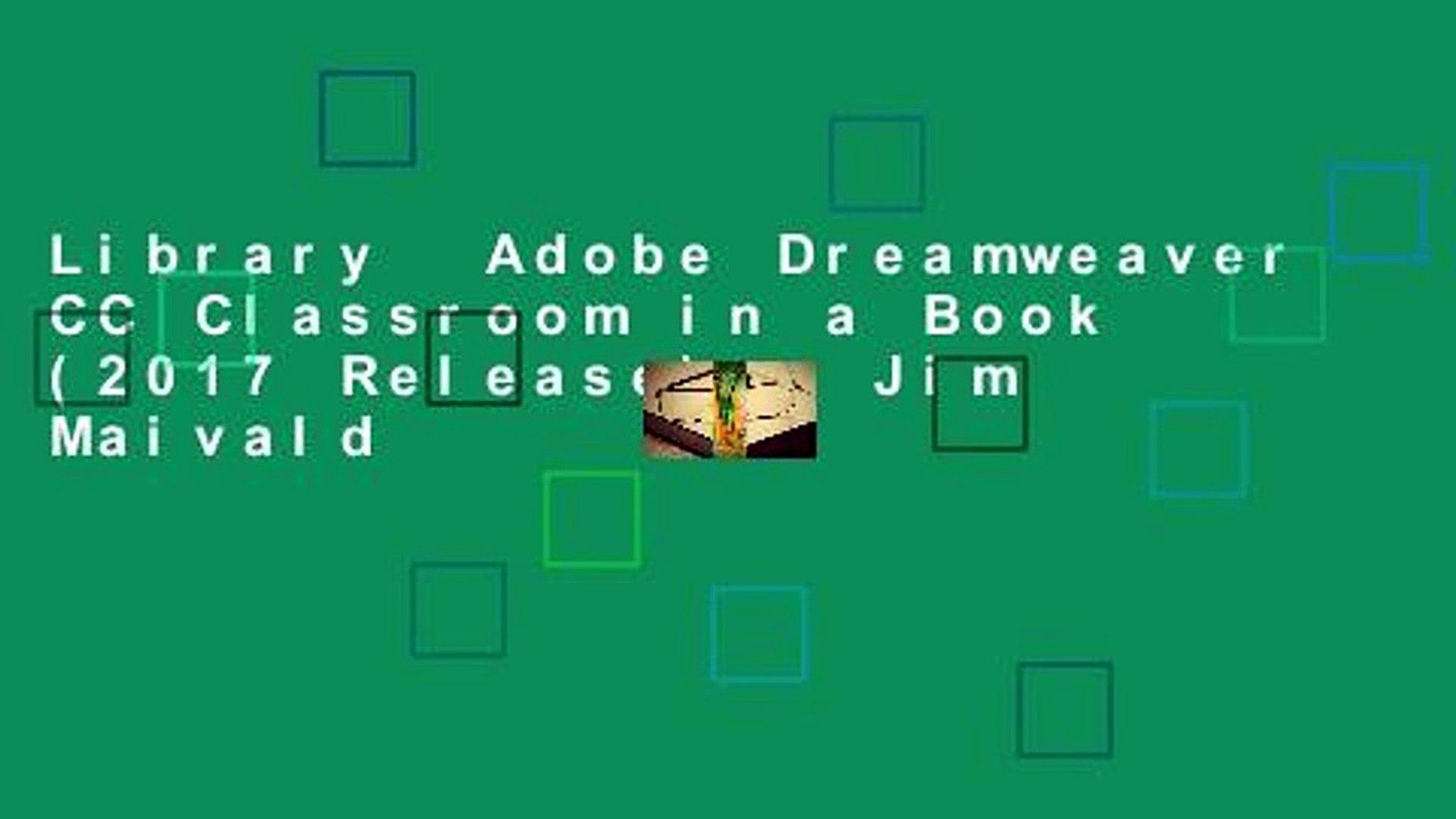 Adobe Dreamweaver CC Classroom in a Book 2017 release