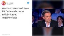Textes négationnistes. « J'assume, j'endosse tout », assure Yann Moix