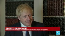 United Kingdom: Boris Johnson confirms Parliament suspension until October 14