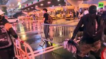 Alleged Hong Kong protesters vandalize toll station at Cross-Harbour Tunnel