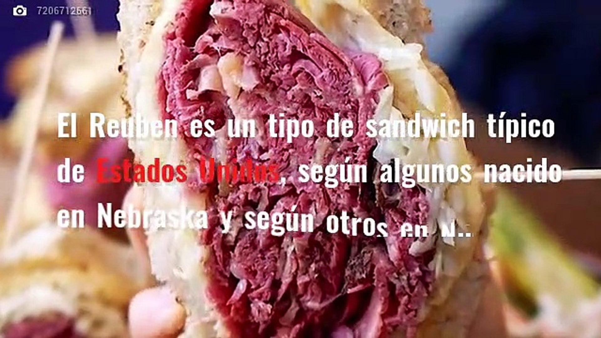 Gastronomía de Estados Unidos: Sándwich Reuben y Ensalada Waldorf