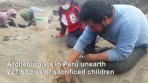 Archeologists find remains of 227 sacrificed children in Peru