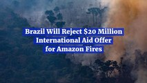 Brazil Rejects Needed Amazon Rainforest Help