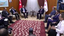 """- Adalet Bakanı Gül, Başbakan Tatar ile Görüştü- Adalet Bakanı Abdulhamit Gül: - """"kktc Hükümetinin..."""