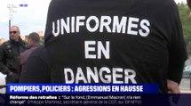 Les pompiers et policiers se font agresser 110 fois par jour - ZAPPING ACTU DU 28/08/2019