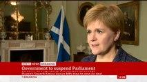 Nicola Sturgeon says Boris Johnson suspending Parliament is 'not democracy, it is dictatorship'