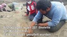 Archäologen finden riesige Kinder-Opferstätte in Peru