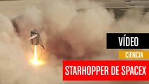 [CH] Espectacular despegue y aterrizaje del Starhopper de SpaceX