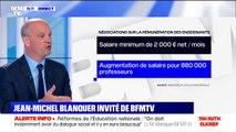 """Jean-Michel Blanquer promet une hausse """"en moyenne de 300 euros en 2020"""" du salaire des professeurs"""