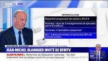"""Jean-Michel Blanquer sur la réforme du bac: """"L'idée du contrôle continu, c'est d'éviter le bachotage"""""""
