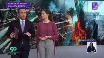 Fuertes lluvias y tormenta de granizo genera alarma en Madrid, España provocando cierre de aeropuert