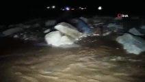 Sivas'ta HES santralindeki su kanalı patladı