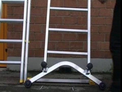 montage du stabilisateur universel sur échelles aluminium