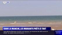 Dans la Manche, les migrants sont prêts à tout pour rallier les côtes britanniques