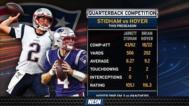 Patriots Backup Quarterback Battle Heating Up As Regular Season Nears