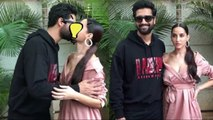 Vicky Kaushal & Nora Fatehi L!p L@ck  Bhushan Kumar Attend Success Of Pachtaoge