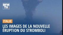 Les images de l'impressionnante éruption du Stromboli, en Sicile