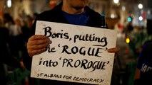 London: tüntetés és petíció Boris Johnson lépése ellen