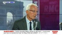 Guillaume Pépy se félicite qu'il y ait eu en trois ans une baisse de 30% du nombre d'incidents sur le réseau ferroviaire