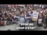Brexit: des milliers de manifestants devant le Parlement britannique