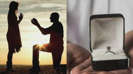 Il fait sa demande en mariage avec le diamant le plus ridicule qui soit