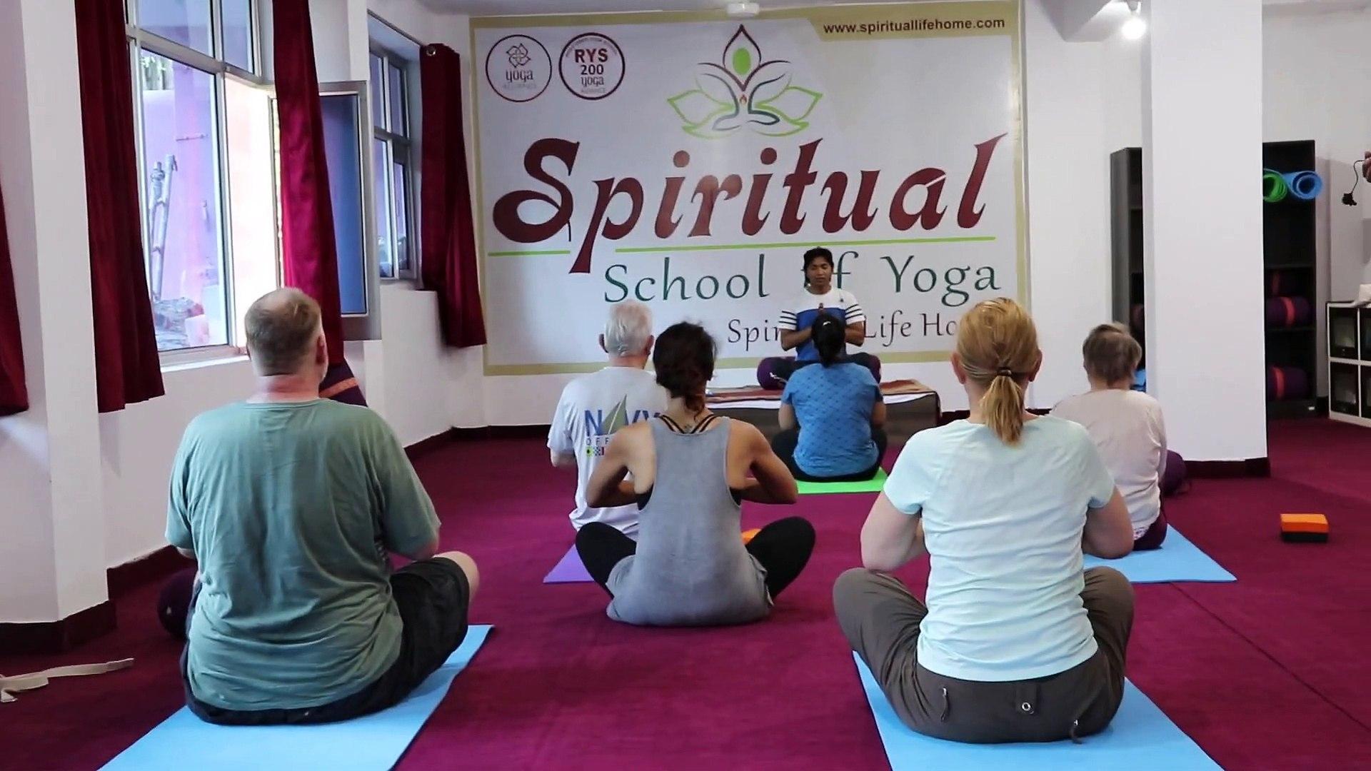 Client Yoga Session at Spiritual School of Yoga, Rishikesh