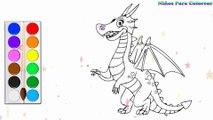 Coloration Dragon diable | Peindre pour les jeunes enfants et dessiner pour les enfants