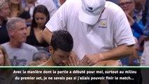 """US Open - Djokovic : """"Je ne savais pas si j'allais pouvoir finir le match"""""""