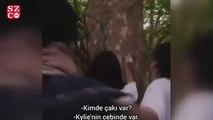 Bella ile Kendall dudak dudağa
