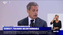"""Nicolas Sarkozy a déclaré ne plus avoir de """"volonté politique"""" à l'occasion d'une conférence donnée à l'université d'été du Medef"""
