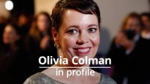 Olivia Colman in profile