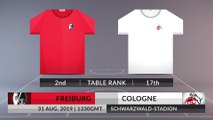 Match Preview: Freiburg vs Cologne on 31/08/2019