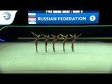 Russia - 2019 Rhythmic Gymnastics European Champions, junior group all around