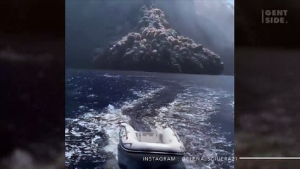 Video Footage Shows A Ship Narrowly Escaping From Stromboli's Eruption