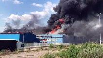Bouzonville : important feu chez Manoir Industries