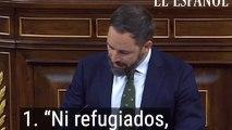 La intervención de Santiago Abascal en 5 frases