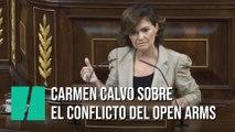 El resumen de Carmen Calvo sobre el conflicto del Open Arms