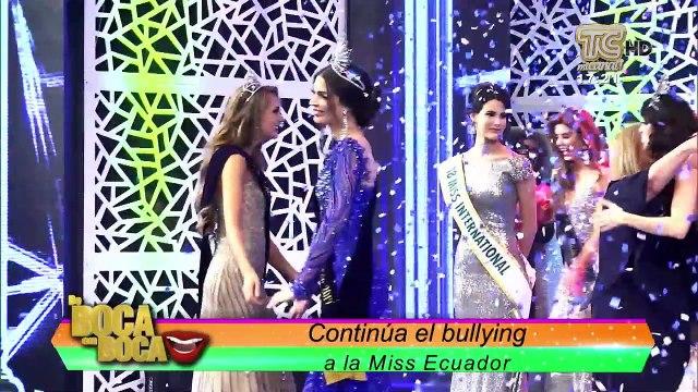 Ex Miss Ecuador recomienda a actual reina que utilice el bullying para el Miss Universo